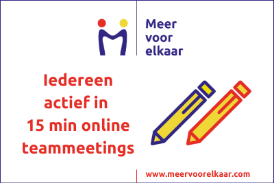 E-book, iedereen actief in 15 minuten online teambijeenkomsten